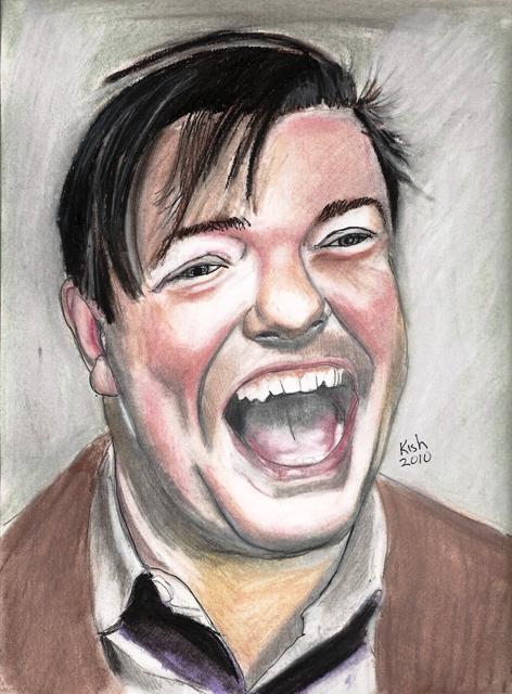 Ricky Gervais by zaxxon